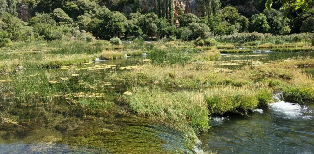 sommerliche Wasserfälle Krka